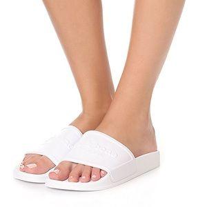 Rag & Bone White Logo Pool Slides Sandals Size 7